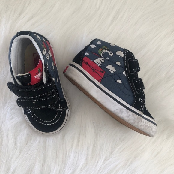 4aaecd202ad54 Vans Shoes   Baby Toddler Snoopy High Tops 5   Poshmark